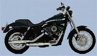 Harley Davidson Fxdx Dyna Super Glide Cross Stitch Chart