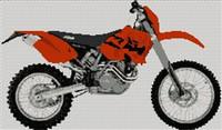 Ktm 450 Exec 2003 Motorcycle Cross Stitch Chart