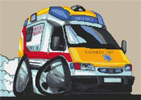 Paramedic Ambulance Cross Stitch Chart