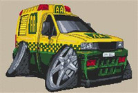 Vauxhall Aa Breakdown Van Cross Stitch Chart