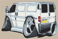 Ford Transit Van Cross Stitch Chart
