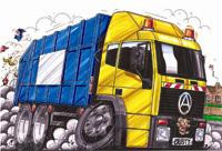 Refuse Truck Seddon Cross Stitch Chart