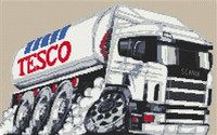 Tesco Fuel Tanker Cross Stitch Chart