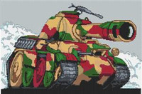 Panther Tank Cross Stitch Chart