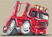 Leyland Daf Skip Truck Cross Stitch Chart