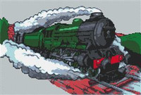 Flying Scotsman Train Cross Stitch Chart