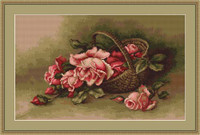 Basket Of Roses Petit Cross Stitch Kit By Luca S