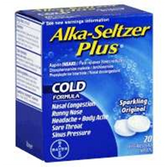 Alka Seltzer Plus Cold Medicine - 20 Count