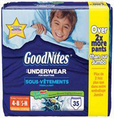 GoodNites 4-8 years -35ct