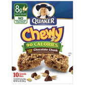 Quaker Chewy Chocolate Chip Granola Bar -10 pk