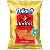 Doritos Baked Nacho Cheese Tortilla Chips Family Size-17 oz