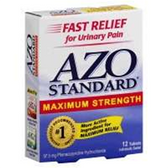 Azo Standard Urinary Pain Maximum Strength Tablets - 12 Count