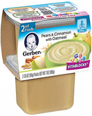 Gerber All-Natural - Pears & Cinnamon Oatmeal -2ct