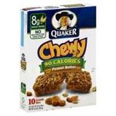 Quaker Chewy 90 Calories Peanut Butter Granola Bar-10 pk