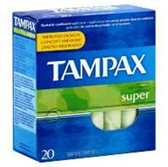 Tampax Super Absorbency Flushable Tampons - 20 Count