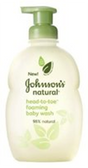 Johnsons Natural Head to Toe Foaming Baby Wash
