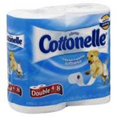 Cottonelle Double Roll Bathroom Tissue - 4 Roll