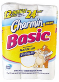 Charmin Basic Bath Tissue - 12 Double Rolls