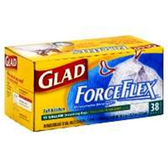 Glad Force Flex Tall Drawstring Kitchen Bags - 38 Count