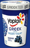 Yoplait - Blueberry Greek  Frozen Yogurt -1 pint