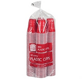 Bakers & Chefs Red Plastic Cups