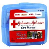 Johnson and Johnson Safe Travels Portable First Aid Kit - Each