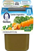 Gerber All-Natural - Garden Vegetables -2 ct