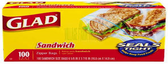 Glad sandwich size ziplocks-100ct