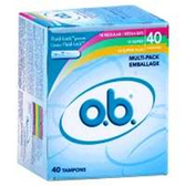 Johnson And Johnson O.B. Multi Pack Tampons - 40 Count