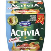 Dannion Activia Strawberry Banana & Peach Light Yogurt- 8 ct