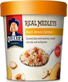 Quaker Real Medley's - Peach Almond Oatmeal -2.64oz