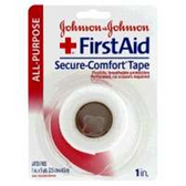 Johnson and Johnson First Aid Secure Comfort Cloth Tape - Count