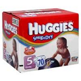 Huggies Snug N Dry Diapers Size 5 - 120 pk