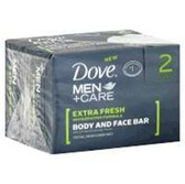 Dove Mens Extra Fresh Bar Soap - 2-4.25 Oz