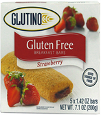 Glutino Strawberry Breakfast Bars -5 Bars