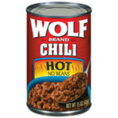Wolf Hot No Beans Chili -15 oz