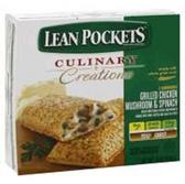 Lean Pockets Garlic Chicken Mushroom And Spinach Pizza -9oz