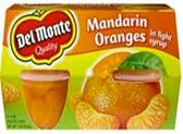 Del Monte - Mandarin Oranges in Light Syrup -4ct