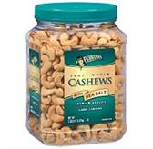 Planters Fancy Whole Cashews With Sea Salt - 38 oz