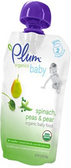 Plum Organics - Spinach, Peas, & Pears -4oz