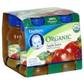 Gerber Organic Apple Juice - 4 - 4 fl. Oz