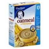 Gerber Baby Cereal - Oatmeal & Banana Cereal