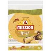 Mission Jalapeno Cheddar Flour Tortilla Wraps -6 ct
