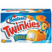 Hostess Twinkies Cream Filled Golden Sponge Cakes-10 pk