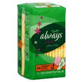 Always Fresh Ultra Thin Overnight With Wings Pads - 24 Count