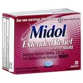 Midol Extended Relief Caplets - 20 Count
