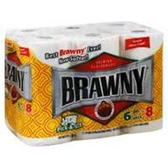 Brawny Big Roll Prints Paper Towels - 6 Roll
