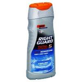 Right Guard Total Defense 5 Deodorizing Hair & Body Wash Cooling