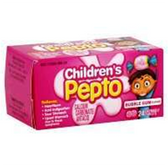 Pepto Childrens Bubble Gum Chewable Tablets - 24 Count