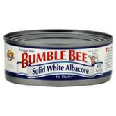 Bumble Bee Solid White Albacore Tuna in Water -12 oz